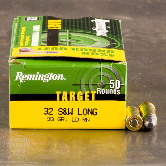 50rds - 32 S&W Long Remington Target 98gr. LRN Ammo