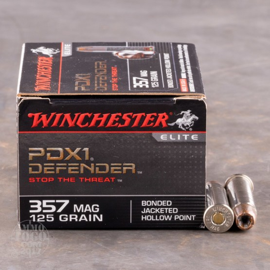 20rds - 357 Mag Winchester PDX1 Defender 125gr. Bonded JHP Ammo