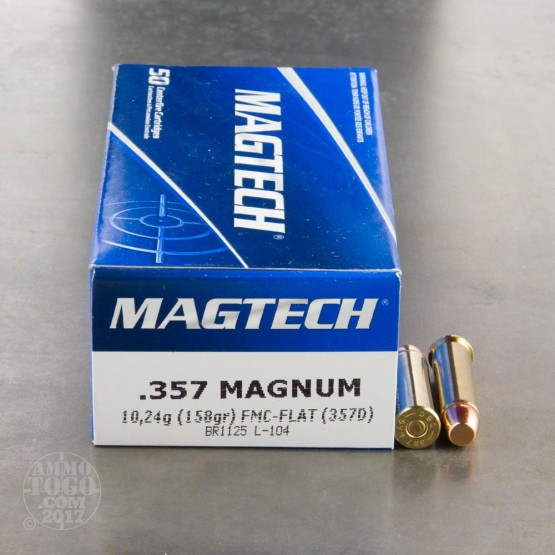 50rds - 357 Mag Magtech 158gr. Flat Point FMJ Ammo