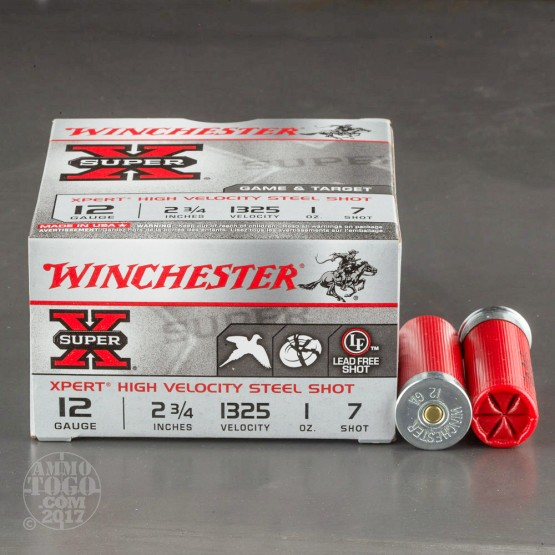 "100rds - 12 Gauge Winchester Xpert 2 3/4"" 1oz. Steel Game #7 Shot"