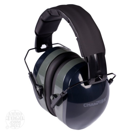 1 Pair - Champion Black 27 NRR Passive Earmuffs