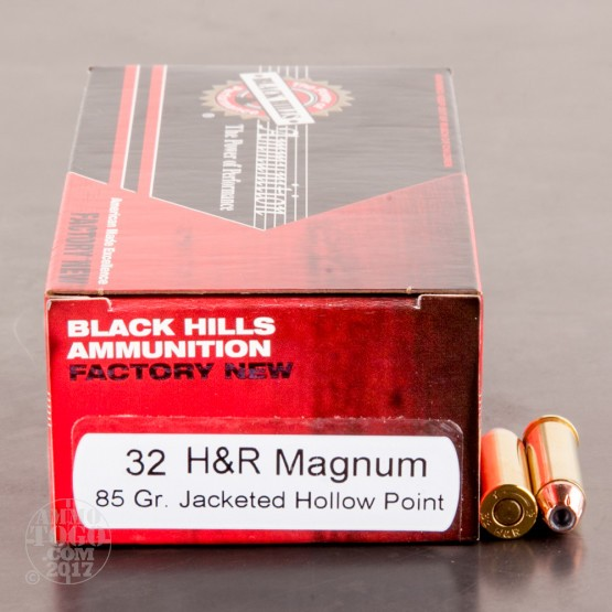 50rds - 32 H&R Magnum Black Hills 85gr. Jacketed Hollow Point Ammo