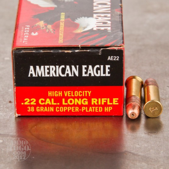 40rds - 22LR Federal AE 38gr. HV Copper Plated Hollow Point Ammo