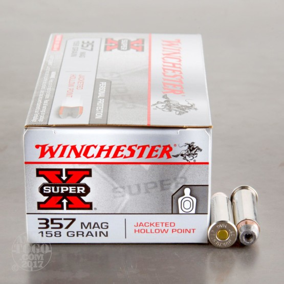50rds - 357 Mag Winchester Super-X 158gr. Jacketed Hollow Point Ammo