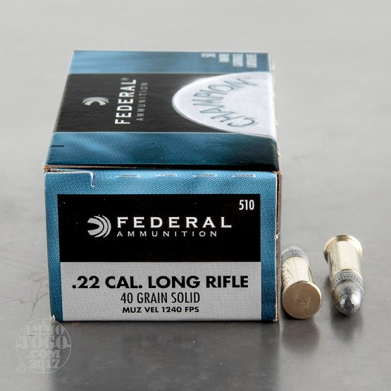 1000rds – 22 LR Federal Champion 10 Can Cooler Combo 40gr. LRN Ammo