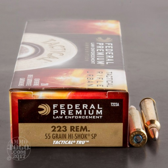500rds - .223 Federal LE Tactical TRU 55gr. SP Ammo