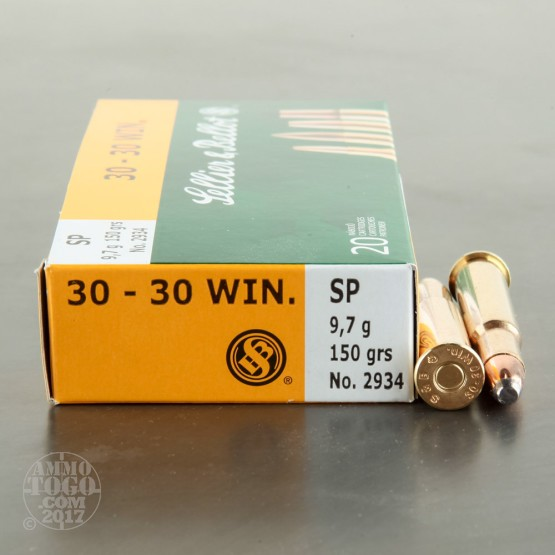 20rds - 30-30 Sellier & Bellot 150gr. SP Ammo