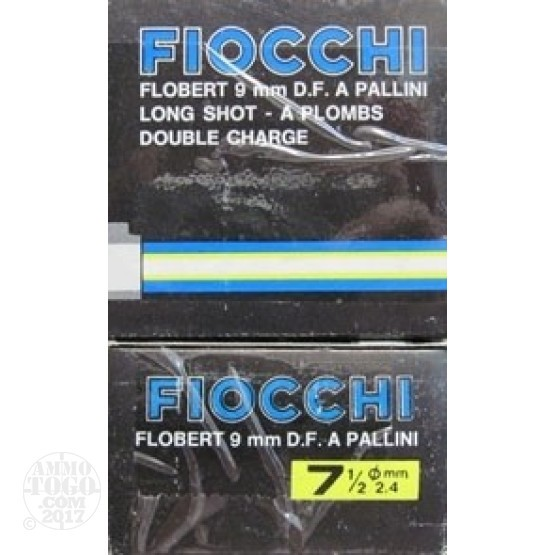 50rds - 9mm Fiocchi FLOBERT #7 1/2 LONG Shot DOUBLE CHARGE