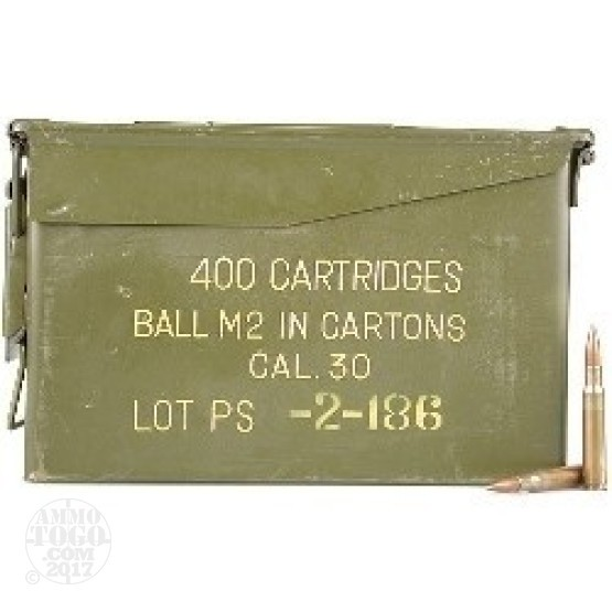 400rds - 30-06 Korean Military 150gr. FMJ Ammo in Ammo Can