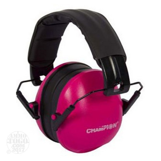1 Pair - Champion Slim Pink Passive Earmuffs