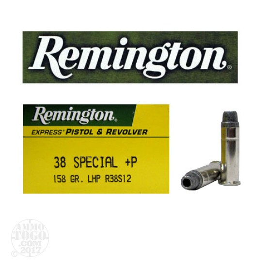 50rds - 38 Special Remington Express 158gr. +P LHP Ammo
