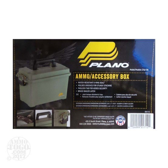1 - 50 Cal Plano Plastic Ammo Can - OD Green