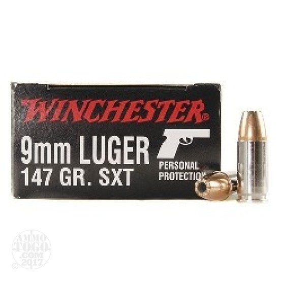 20rds - 9mm Winchester Supreme SXT 147gr. Hollow Point