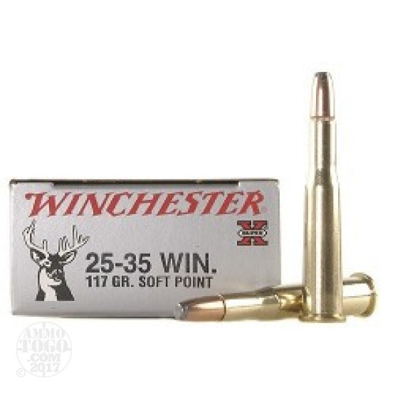 20rds - 25-35 Winchester Super-X 117gr. Soft Point Ammo