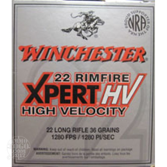 500rds - 22LR Winchester Xpert 36gr. Lead Hollow Point Ammo