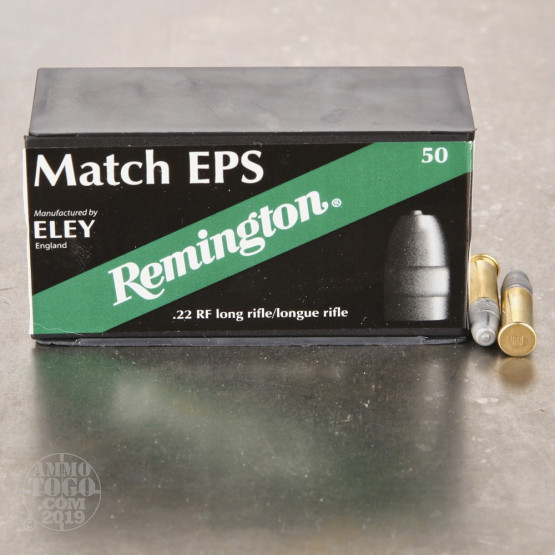 50rds - 22LR Remington Eley Match EPS 40gr. Solid Point Ammo