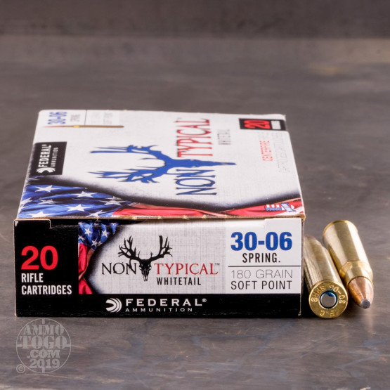 20rds - 30-06 Federal Non-Typical Whitetail 180gr. Non-Typical SP Ammo