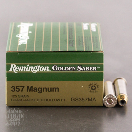 500rds - 357 Mag Remington Golden Saber 125gr. JHP Ammo