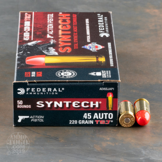 500rds – 45 ACP Federal Syntech Action Pistol 220gr. Total Synthetic Jacket FN Ammo