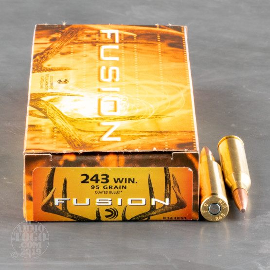 20rds - .243 Win. Federal Fusion 95gr. SP Ammo