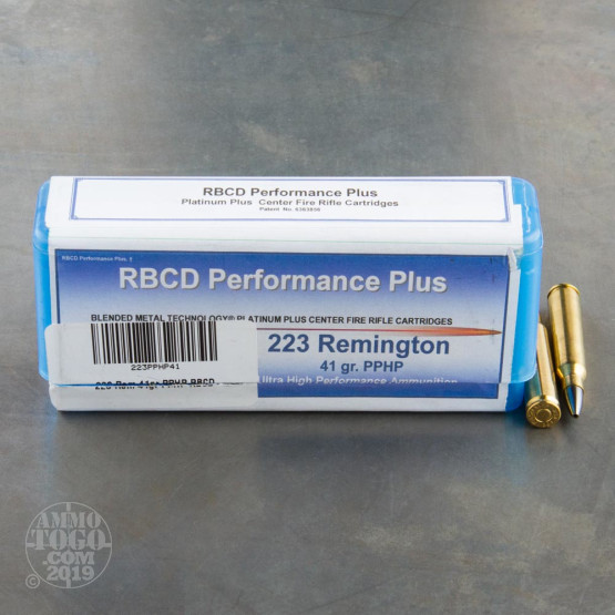 20rds - 223 RBCD Performance Plus 41gr PPHP Ammo