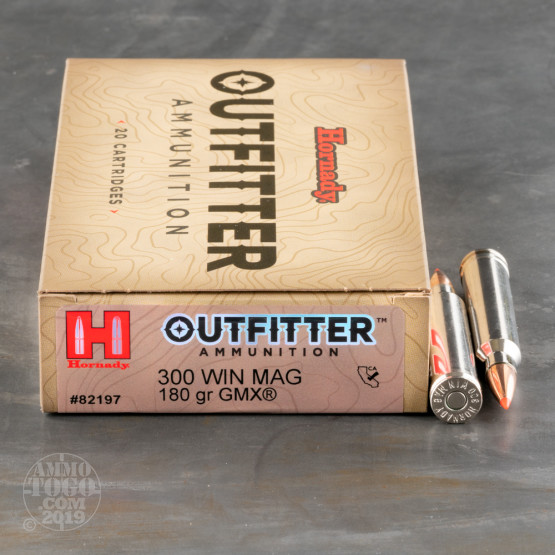 20rds – 300 Win Mag Hornady Outfitter 180gr. GMX Ammo