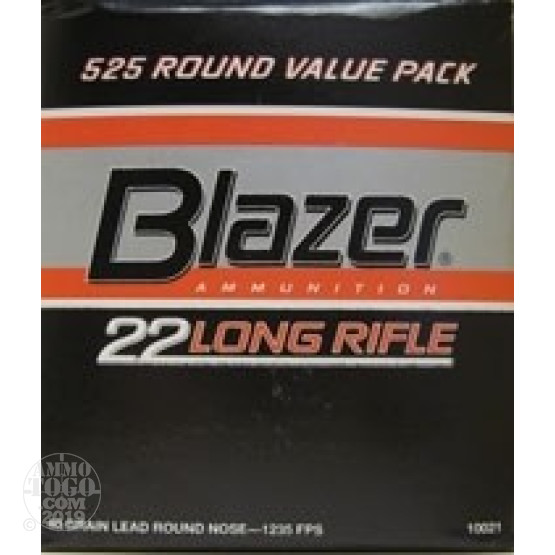 525rds - 22LR CCI Blazer 40gr. Solid Point Value Pack Ammo
