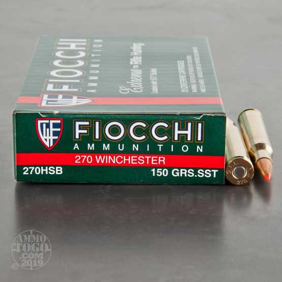 20rds - 270 Win Fiocchi Extrema 150gr. SST Polymer Tip Ammo