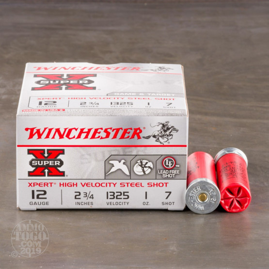 "25rds - 12 Gauge Winchester Xpert Steel Shot Game & Target Load 1 Ounce 2 3/4"" #7 Shot Ammo"