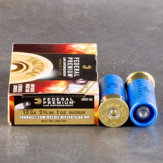 "250rds – 12 Gauge Federal LE Tactical TruBall 2-3/4"" 1oz. Rifled Slug Ammo"