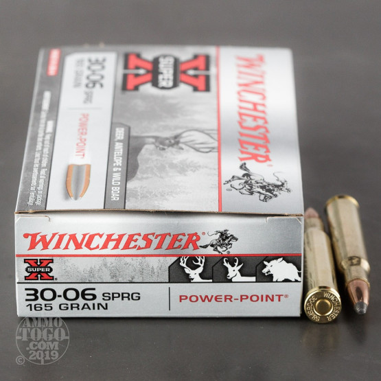 20rds - 30-06 Winchester 165gr. Super-X Pointed Soft Point Ammo