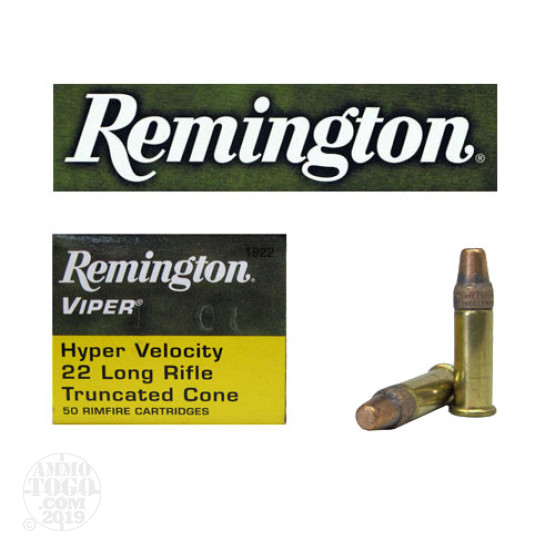 500rds - 22LR Remington Viper HV 36gr Truncated Cone Ammo