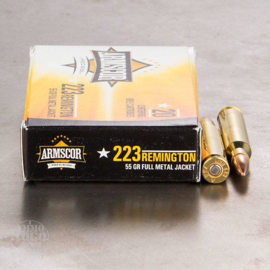 20rds - 223 ARMSCOR USA Precision 55gr. Full Metal Jacket Ammo