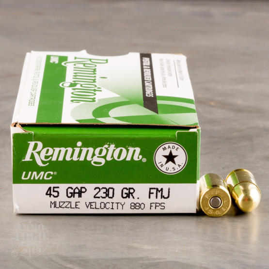 500rds - 45 GAP Remington UMC 230gr. FMJ Ammo