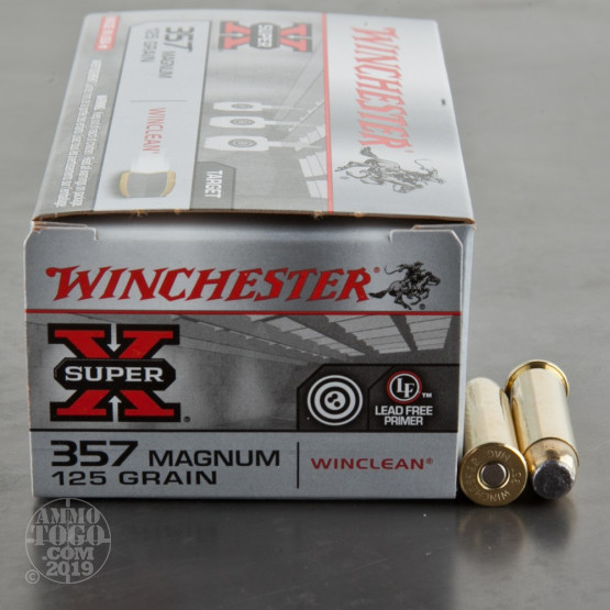 50rds - 357 Mag Winchester WINCLEAN 125gr Jacketed Soft Point