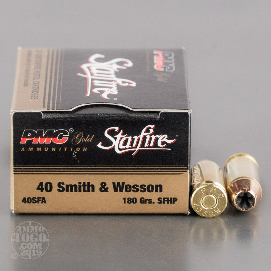 20rds - 40 S&W PMC Starfire 180gr. Hollow Point Ammo