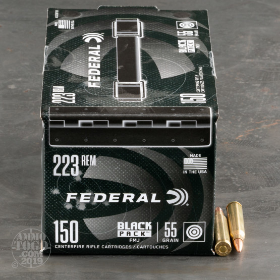 600rds – 223 Rem Federal Black Pack 55gr. FMJ Ammo