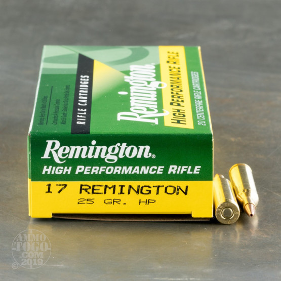 20rds - 17 Remington 25gr. Hollow Point Power Lokt Ammo