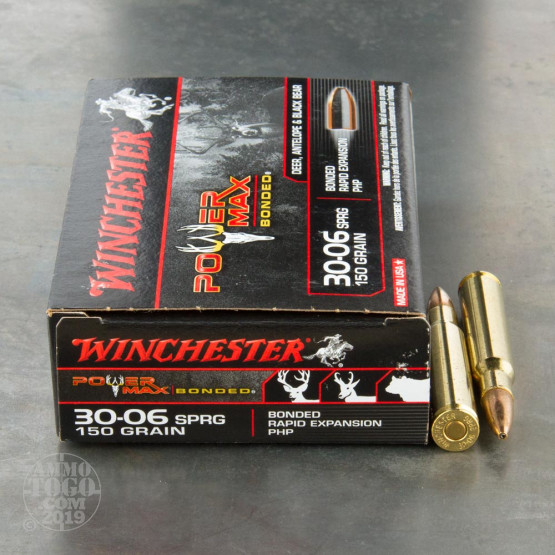 20rds – 30-06 Winchester Power Max Bonded 150gr. Protected HP Ammo