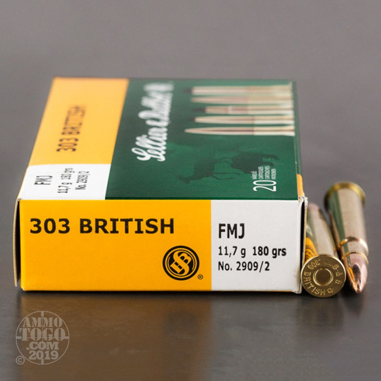 20rds – 303 British Sellier & Bellot 180gr. FMJ Ammo