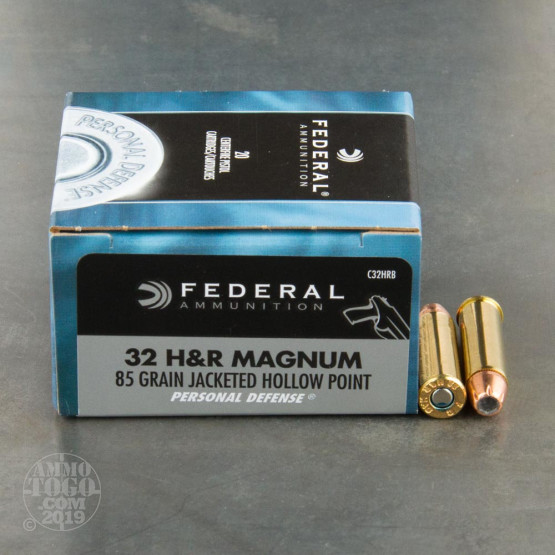 20rds - 32 H&R Magnum Federal 85gr. Hollow Point Ammo