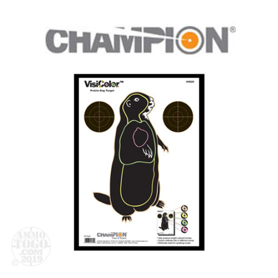 1 - Champion VisiColor Prairie Dog Target 10 Pack