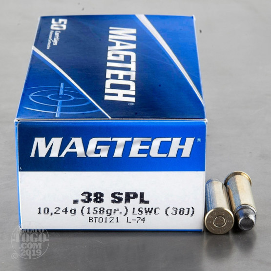 50rds – 38 Special Magtech 158gr. Lead Semi-Wadcutter Ammo