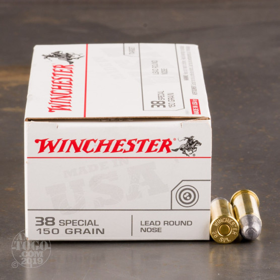 50rds - 38 Special Winchester USA 150gr. LRN Ammo