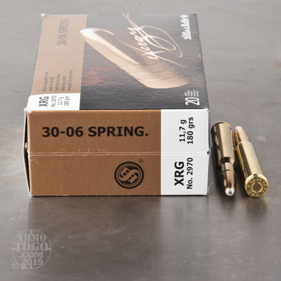 20rds - 30-06 Sellier and Bellot 180gr. eXergy Capped Copper HP Ammo