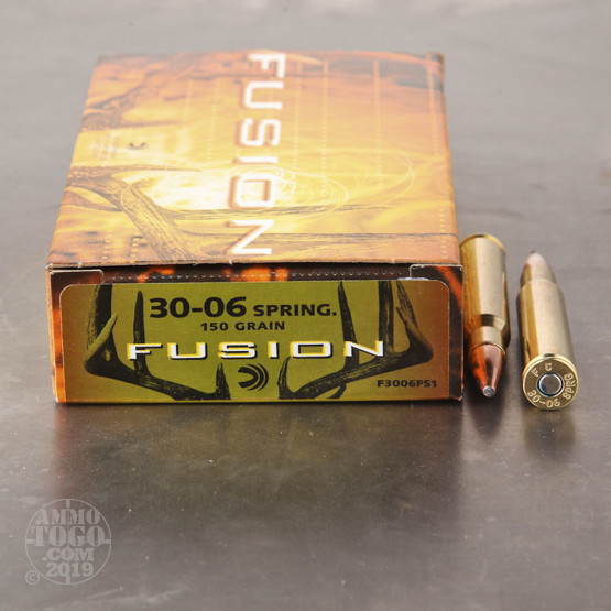 20rds - 30-06 Federal Fusion 150gr. SP Ammo