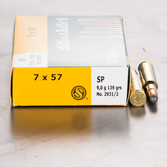 20rds - 7mm Mauser Sellier & Bellot 139gr. SP Ammo