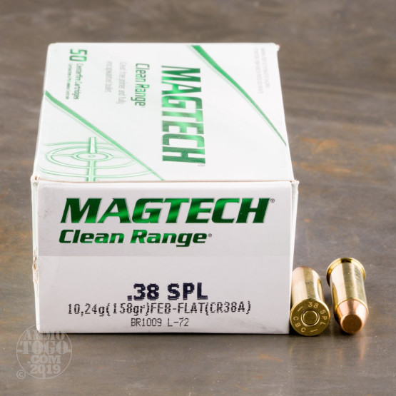 50rds - 38 Special Magtech Clean Range 158gr. FEB Ammo