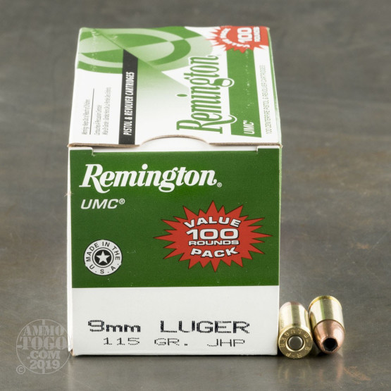 600rds – 9mm Remington UMC 115gr. JHP Ammo