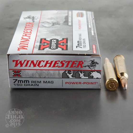 20rds - 7mm Rem. Mag Winchester Super-X 150gr. Power Point Ammo